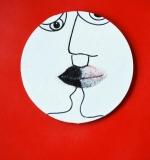 interacial kiss, Tusche und Zucker auf Oblatenpapier